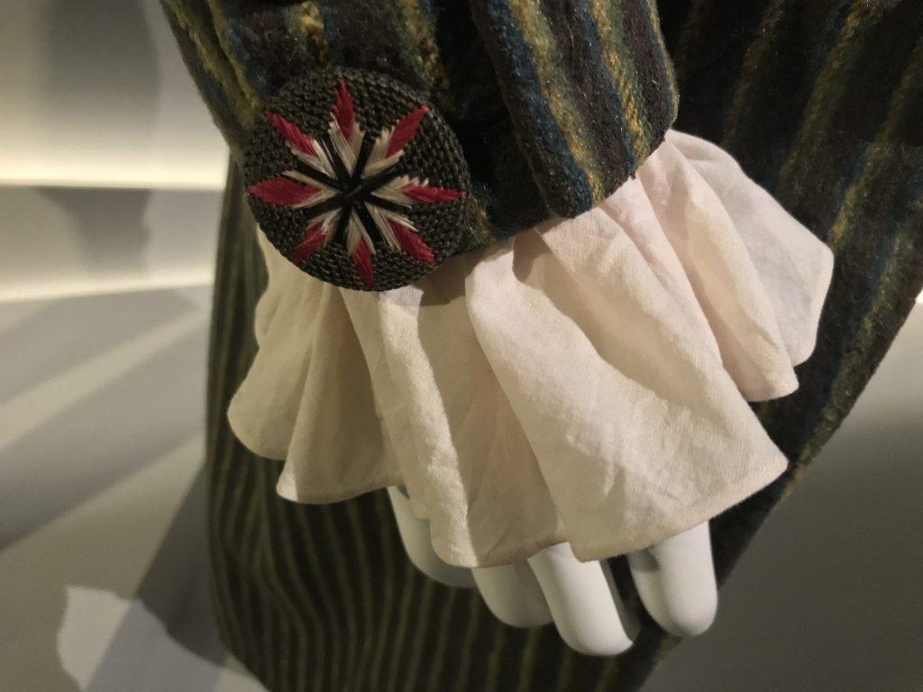 Detail of muslin cuff
