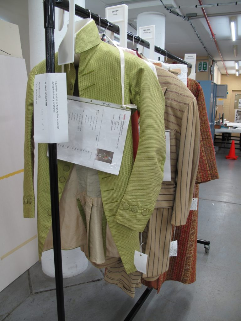 Photograph of garment rack