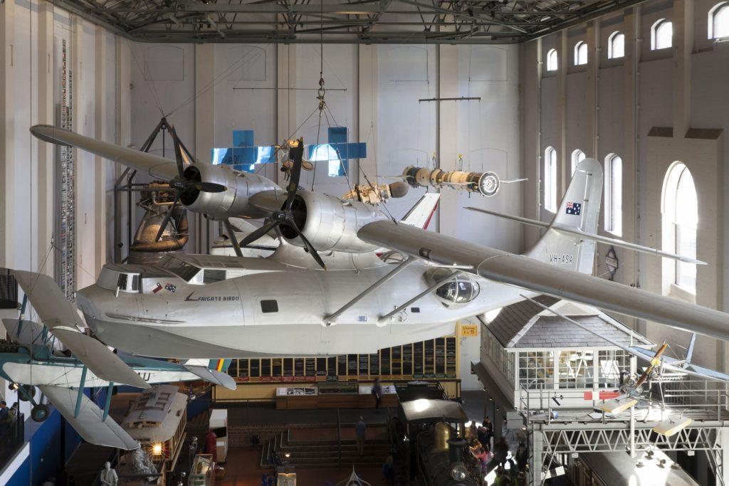Catalina Frigate Bird II on display at the Powerhouse Museum