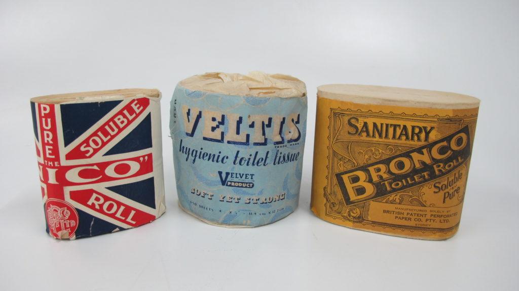 Photograph of toilet rolls