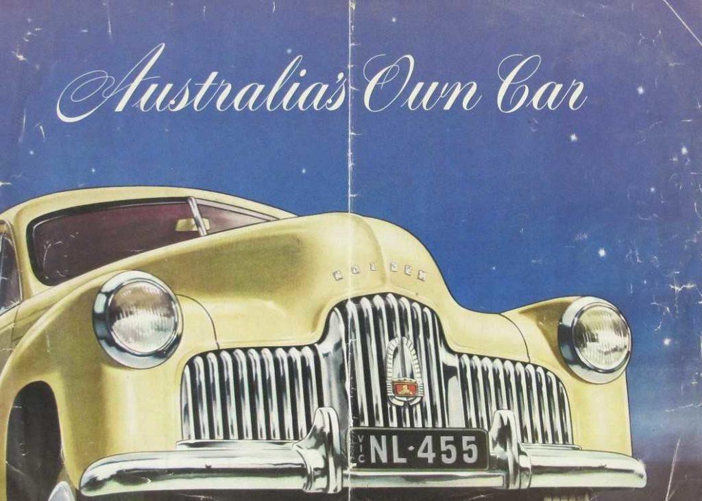 Advertising brochure for the 48/215 Holden (FX)