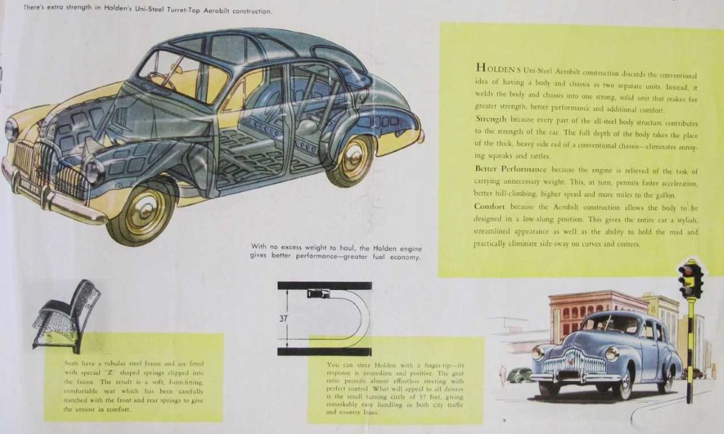 1948 advertising brochure for the 48/215
