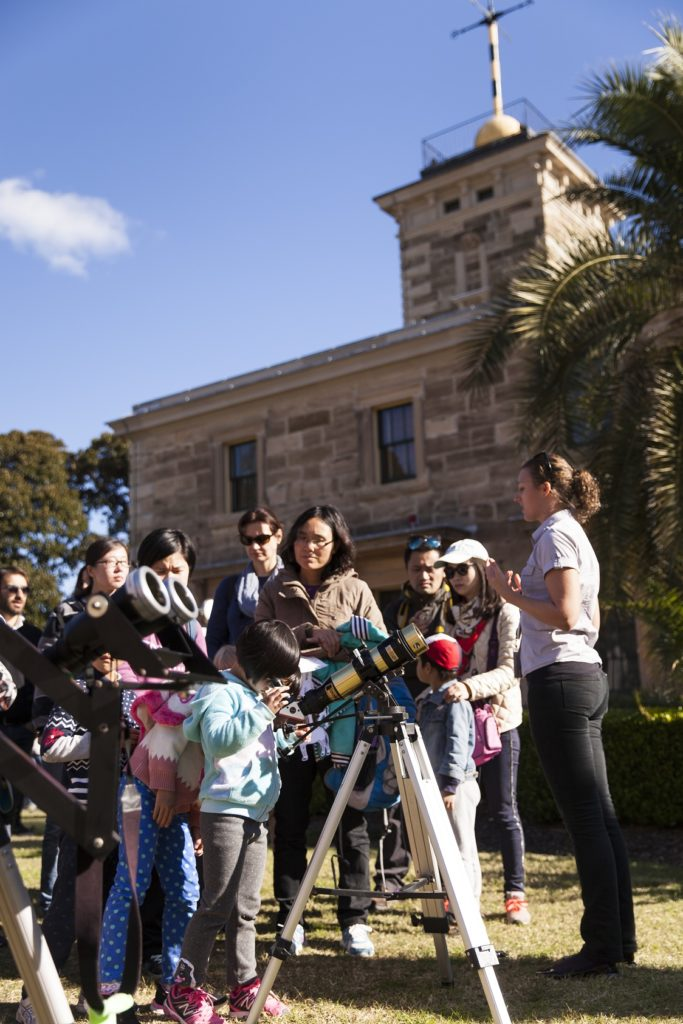 Sarah Reeves Leading a solar observing tour at Sydney Observatory