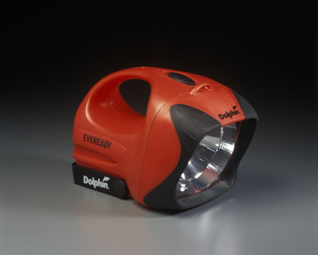 The Dolphin Mk5 red and black Eveready Pty Ltd torch