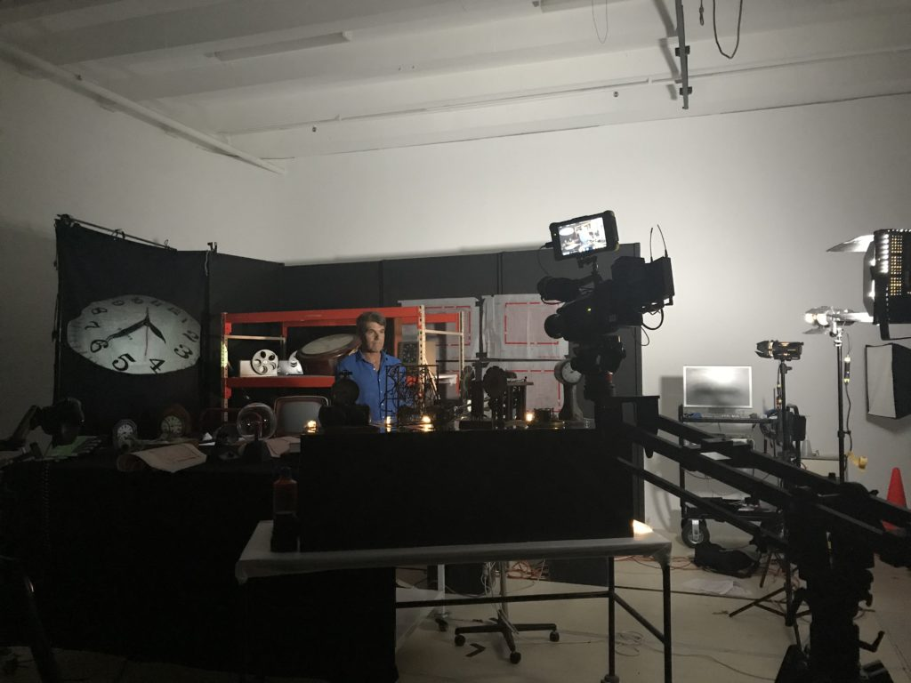 Filming for an episode of Catalyst at MAAS