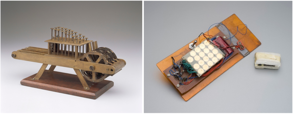 Images of two early calculators.