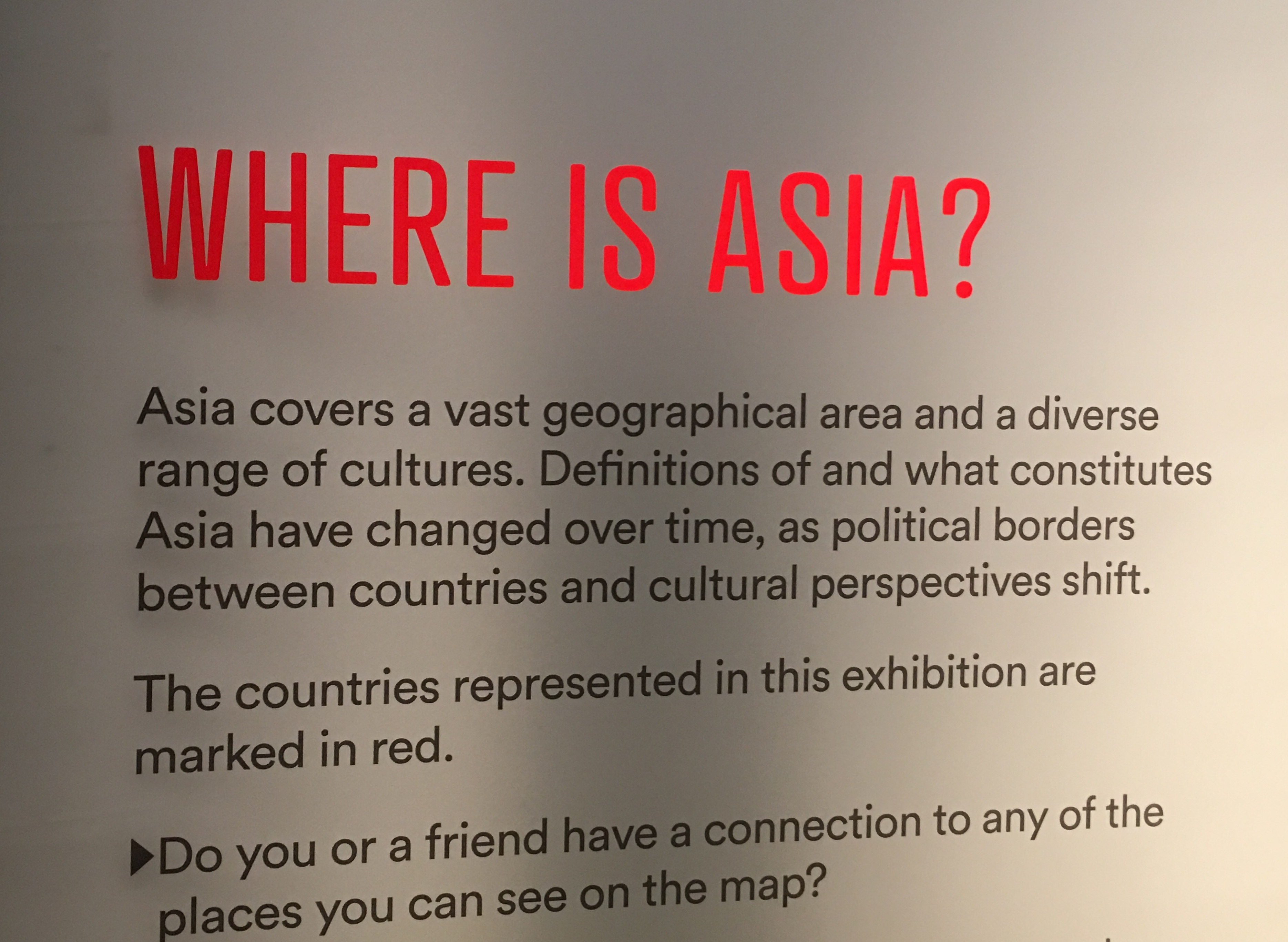 A label text with the title 'Where is Asia?'
