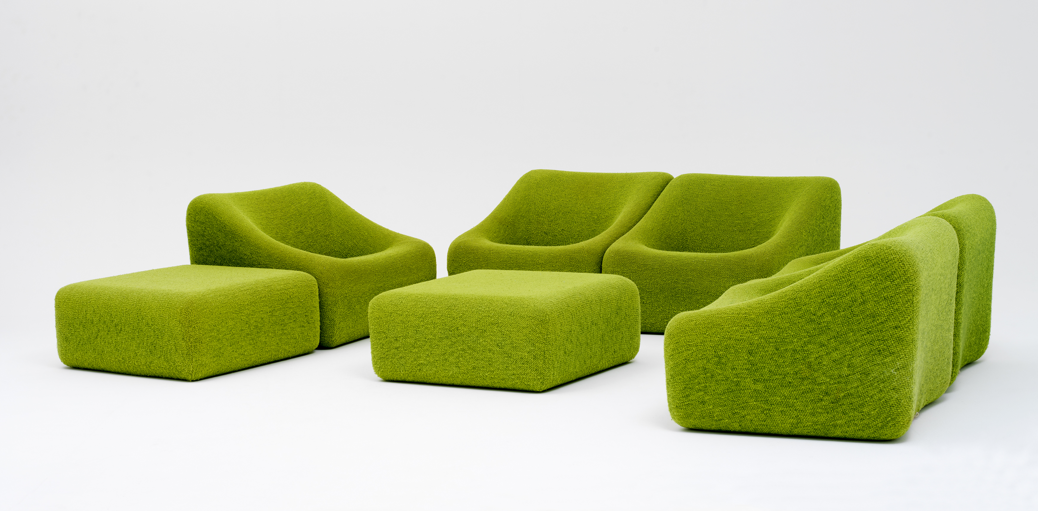 Numero IV Lounge suite, designed by Grant and Mary Featherston, made by Uniroyal Pty Ltd, Melbourne, Victoria, Australia, 1973-1974