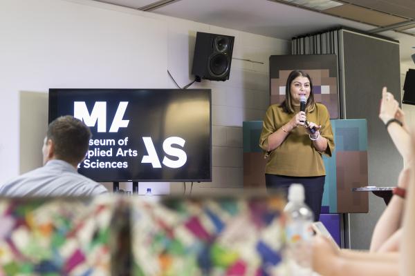 Teacher presenting at TeachMeet: Design 2018