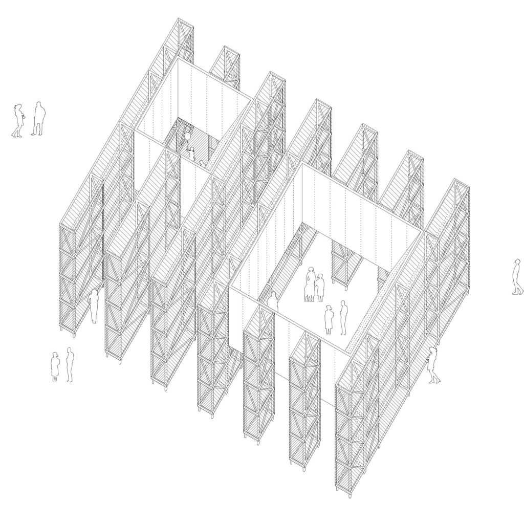 An architectural drawing.