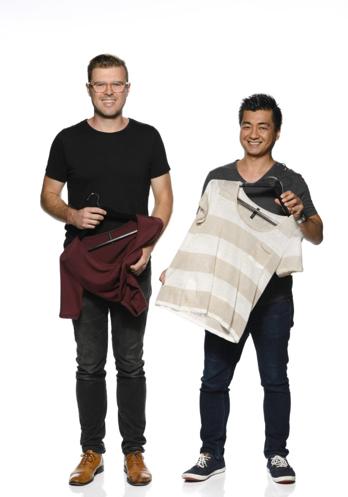Full length portrait of Citizen Wolf founders Zoltan Csaki and Eric Phu