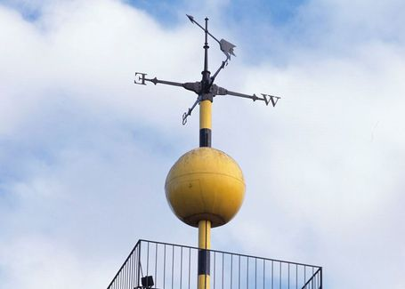 The time ball atop the Sydney Observatory, photo courtesy of Powerhouse Museum.