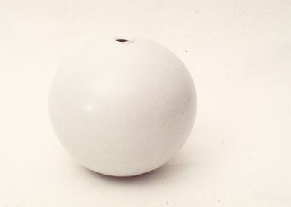 Stoneware sphere, by Shiga Shigeo (1928-2011). Collection: Powerhouse Museum.