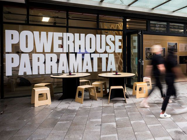 Powerhouse Museum community space shopfront, Parramatta Square.