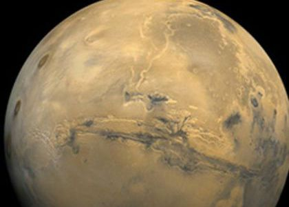 Close up of the planet Mars