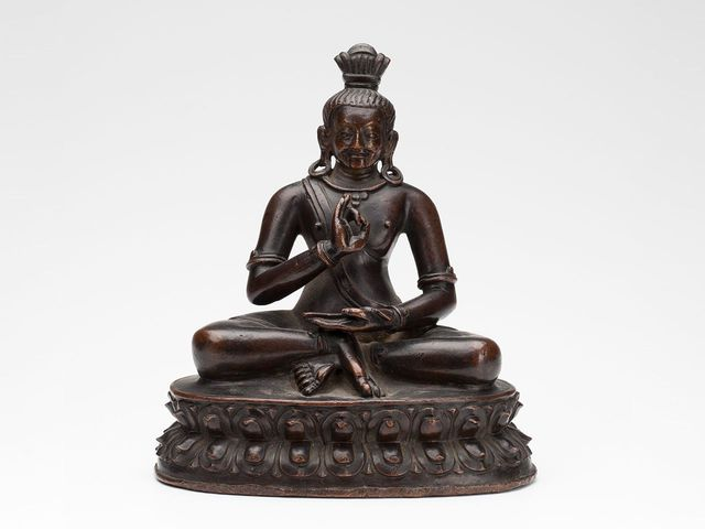 Image: Figure, Mahasiddha Catrapa, Tibet, 1400–1599, Powerhouse Collection