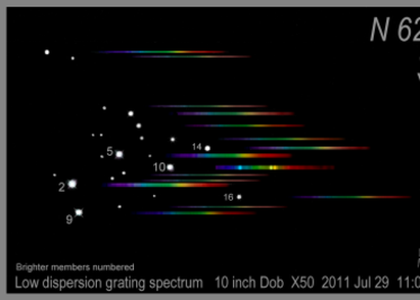A sketch of the low dispersion grating spectra of the brighter stars of the cluster NGC6231